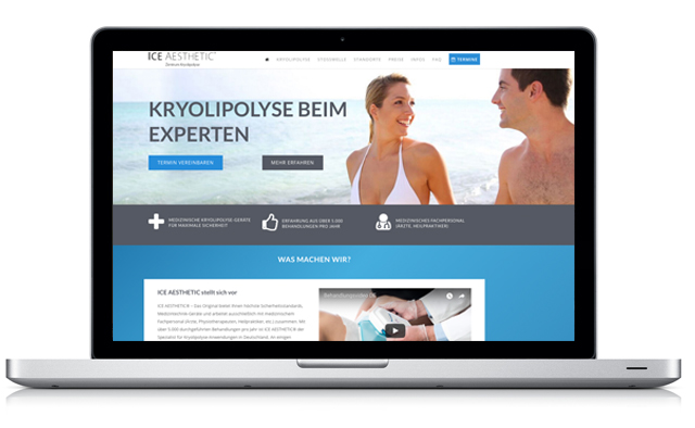 ICE AESTHETIC Website Kryolipolyse